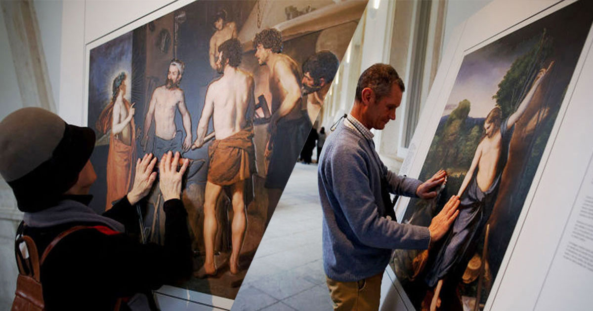 Innovation un mus e r dit des tableaux en relief pour les malvoyants myvirtual360 - Les plus beaux tableaux abstraits ...