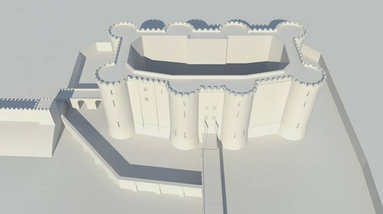 Cette borne fait réapparaître La Bastille. - © Timescope
